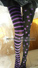 Buy Princess sweet lolita pantyhose Harajuku personality punk star stripe AB stocking tightsLKW218