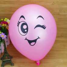 2017 new 100pcs Big Eyes Smiley Air Balloons 12 Colors Birthday Party Wedding Decoration Balloon Inflatable Latex Balls Kid Toys(China)