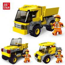 JIE-STAR Engineering Truck 3 Kinds Deformations City Construction Building BlocksToys for Boys Kids Educational Blocks 21009