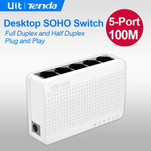 Tenda S105 Ethernet Switch,Mini 5 Port Desktop Ethernet Network Switch,100Mbps LAN Hub,Small and Smart, Plug and Play,Easy Setup