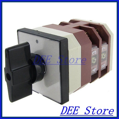 380V/AC 220V/AC ON/OFF Rotary Cam 8 Screw Terminals Changeover Switch<br><br>Aliexpress