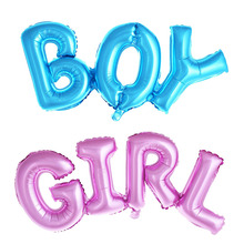 Boy girl connection Letter foil balloons children party decoration birthday party balloons inflatable Helium Balloon baby shower(China)