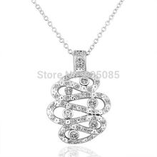 ZHOUYANG N177 Silver Color Necklace Health Jewelry Nickel Free Pendant Rhinestone Austrian Crystal Element(China)