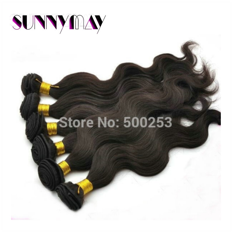 Stock 6A Body Wave Hair Extension 3pcs/Lot Natural Color 100%Brazilian Virgin Human Hair Weaving<br><br>Aliexpress
