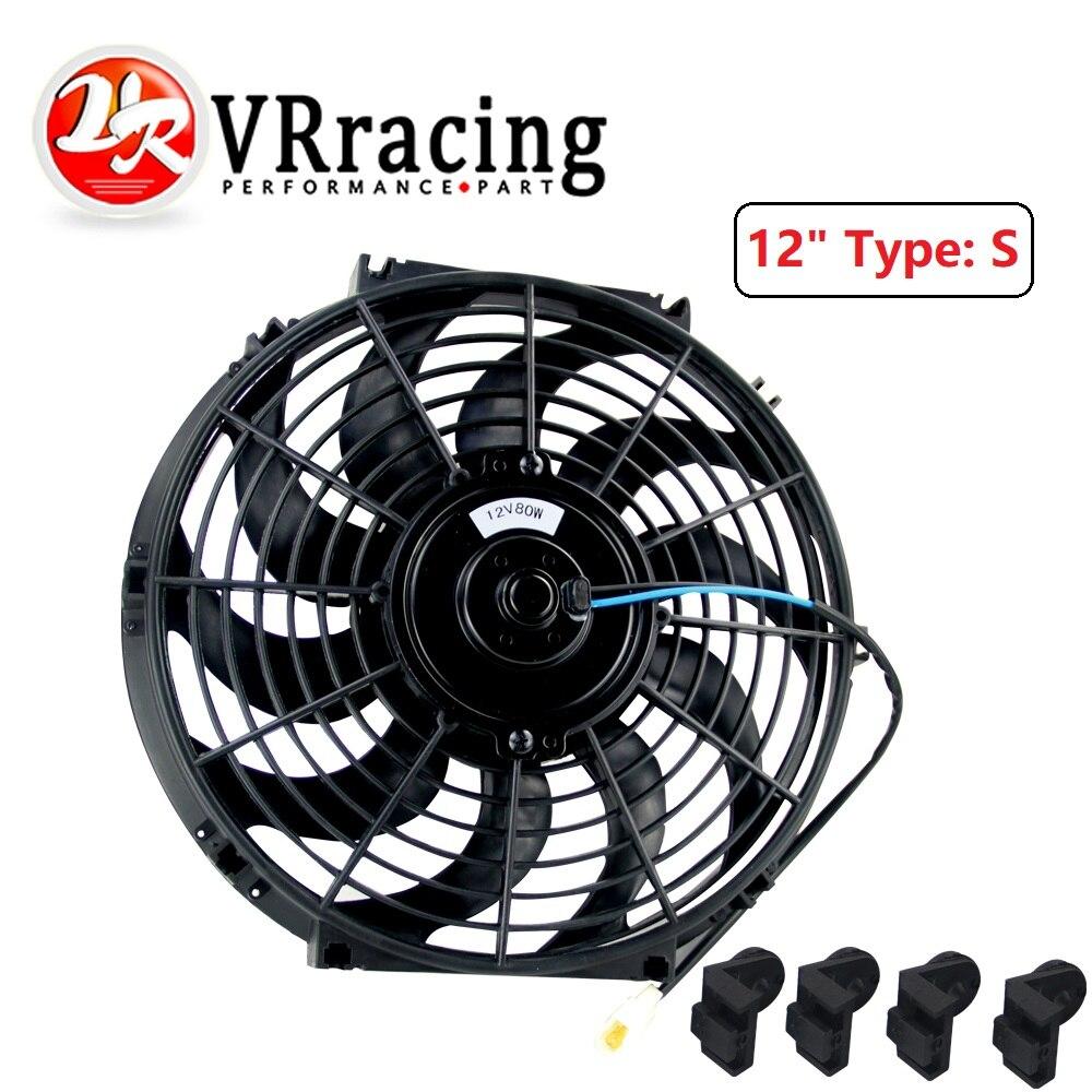universal 12/V 80/W Delgado Electric Engine Ventilador con ventilador de Kit de montaje para la mayor/ía de coches Ventilador de 12/pulgadas