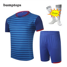FREE SOCKS New Hot Selling DIY Adult Training Team Sportswear Mens Soccer Jerseys Football Kits Outdoors Customized Uniform