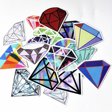 18Pcs Transparent Diamond Design Stickers For Snowboard Car Laptop Luggage Skateboard Motorcycle Phone Decal Sticker Pegatinas(China)