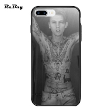 Machine Gun MGK For Iphone Case 7/7plus Glaze Hard PC&TPU Ultra-thin Plating Button Covers For Iphone 6/6s/6plus/6s Plus(China)