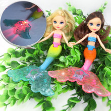 Unique Fashion Ariel Princess LED Light Mermaid Doll Toy Classic Girl's Mermaid Doll Toys For Girl Birthday Xmas Gifts