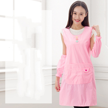 Princess apron sleeve set female Korean version of fashionable kitchen cute(China)