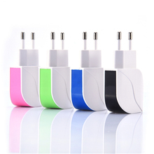 5V 1A EU Plug Dual USB Charger USB Universal Adapter Portable Travel Wall Charger USB for Samsung Tablet Charger Mp3 Chargeur