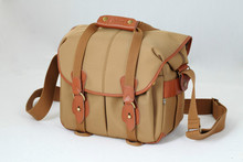 Free shipping! Kani WM-550 Camera case Hadley Large Pro Shoulder Bag (Khaki  & Chocolate Leather)