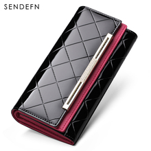 Sendefn Wallet Luxury Wallet Female Patent Leather Clutch Lady Party Purse Hot Sale Wallet Women Purse Women Long Coin Purse(China)