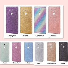 Bling Glitter Shiny Crystal Diamond Full Body Front and Back Wrap Decal Film Sticker Skin For Huawei Mate S/ Mate 7 / Mate 8(China)