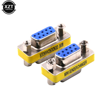 1pcs DB9 serial port conversion head VGA 9 hole on adapter connector famale to famale RS232 high quality(China)