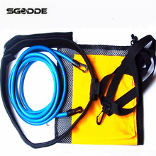 Hot Swimming Pool Accessories Swimming Trainer Set Traction Resistance Swim Training Device + Water small bag+ Mesh Bag(China)