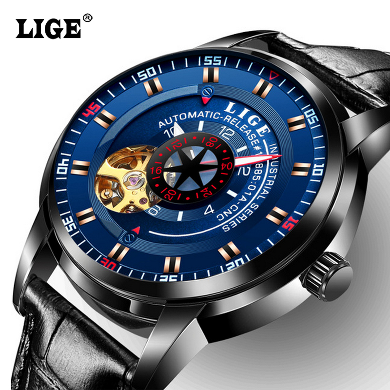 Top Brand Luxury Automatic Mechanical LIGE Mens Watches Watch Men Fashion Business Wrist watches Man Waterproof Sport Clock<br>
