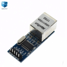 1PCS/LOT mini ENC28J60 LAN Ethernet Network Board Module 25MHZ Crystal AVR 51 LPC 3.3V+free shipping