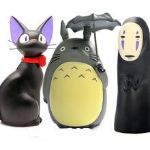 Totoro umbrella coin Piggy bank figure toys 2016 New Japanese anime Hayao Miyazaki Spirited Away No face man faceless man party