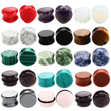 2pcs Stone Ear Plugs and Tunnels Ear Piercings Earring Gauges Helix Piercing Ear Stretcher Plugs Oreille Body Piercing Jewelry(China)
