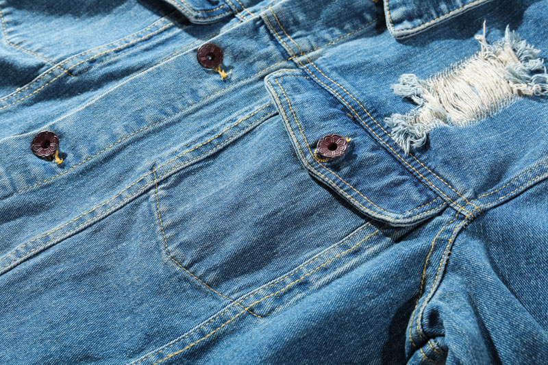 Ripped Hole Destroyed Denim Jackets 4