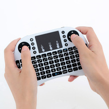 Mini i8+ 2.4G Wireless Gaming keyboard English Hebrew Russian With Touch Pad Mouse for Tablet Mini PC Free Shipping(China)