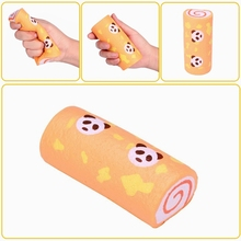 Vlampo Squishying Panda Swiss Roll Kawaii Sponge Cake Toy Slow Rising Toy With Original Packaging Collection Gift Decor(China)