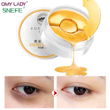 OMY LADY SNEFE collagen Gold eye mask desalination dark circle tighten eyes under eye patch solution relieve fatigue fat capsule(China)