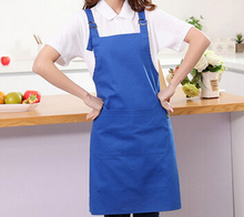 Custom fashion Cotton Apron chef kitchen coffee shop Manicure waterproof overalls made(China)