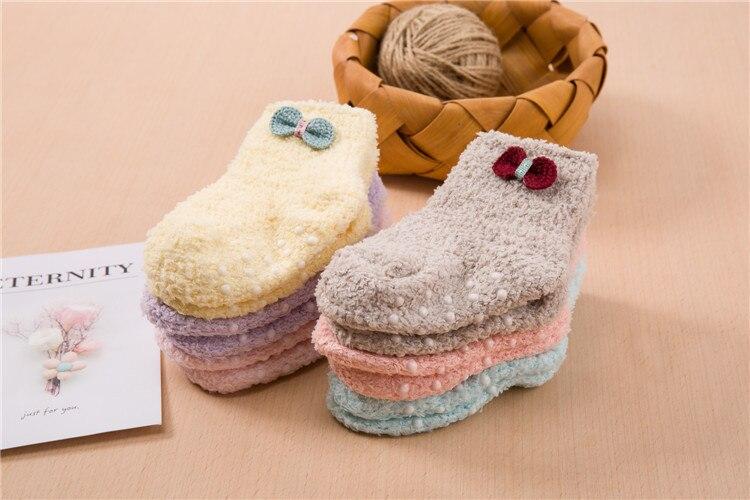 جوارب مبطن للاطفال لشتاء دافئ 6