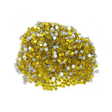 1440p 1.9-2.0mm SS6 Citrine Non Hotfix Rhinestones for Nails Body Shoe Nail Art  Decoration Glitter Gems DIY Bead s