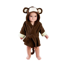 Buy Cotton Children Robes Clothing Cute Ainmal Pajamas Flannel Baby Boys Girls Winter Warm Kids Sleepwear & Robe Rabbit Bear for $19.97 in AliExpress store