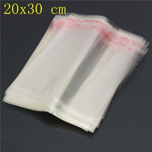 20*30cm Clear Resealable Cellophane/BOPP/Poly Bags Transparent Opp for plastic storage bag Self Adhesive Seal free shipping