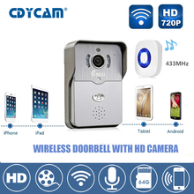 Smart door intercom 720P HD Video Doorbell WiFi Doorbell with Camera Night Version IR Motion Detection Alarm for IOS / Android(China)