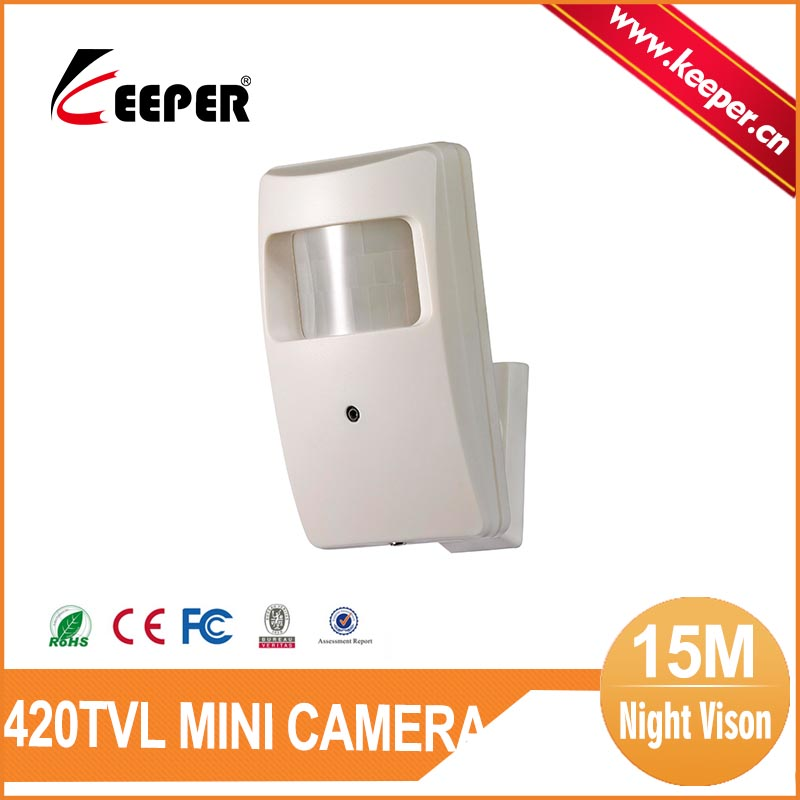 Keeper SONY CCD 420TVL PIR Sensor Camera with 3.7mm Lens 15M IR Distance Indoor Use Only Mini Camera<br><br>Aliexpress