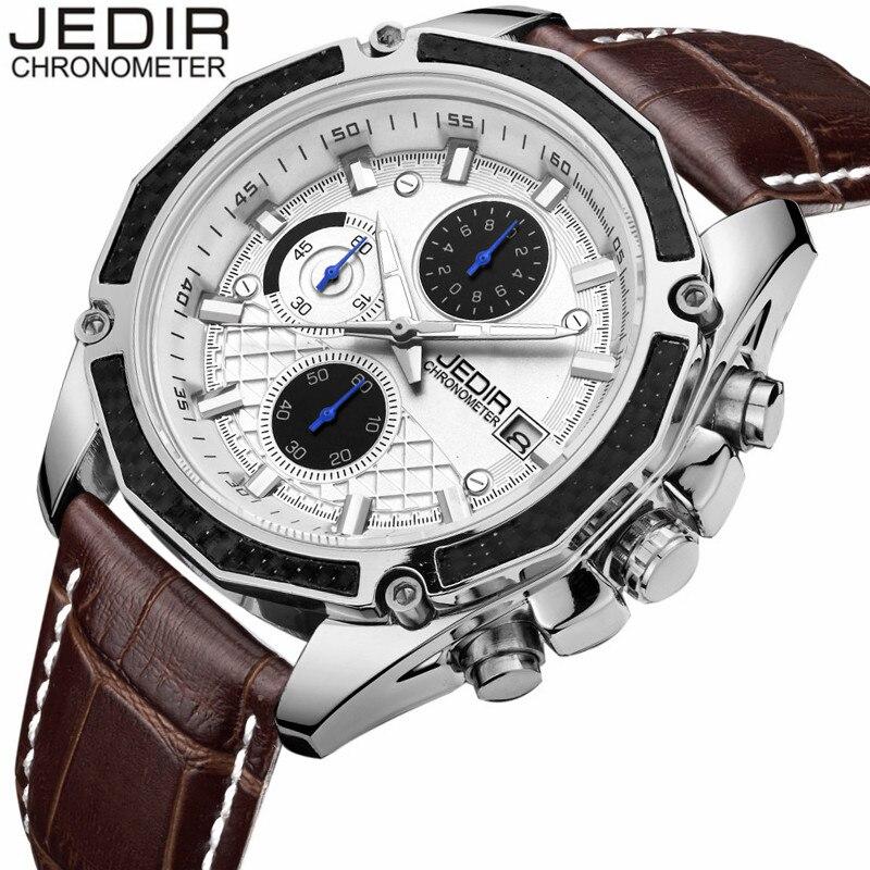 JEDIR Watch Men Chronograph Date Luminous Quartz Watch Mens Watches Top Brand Luxury Sport Leather Wristwatch relogio masculino<br><br>Aliexpress
