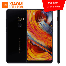 "Original Xiaomi Mi Mix 2 Mobile Phone 6GB 128GB Snapdragon 835 Octa Core 5.99"" 2160X1080 FHD+ Full Screen Display Ceramics Body(China)"