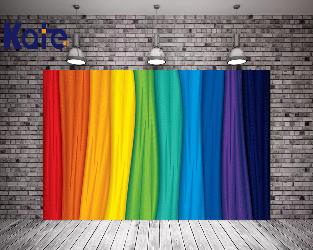 Kate Colorful Window Curtains 10x10ft Background Iridescent 3D Stage Party Wedding Bokeh Photography Backdrops Children Backdrop<br>