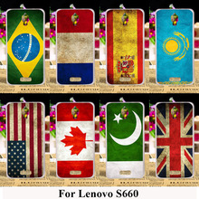 Soft TPU Plastic Phone Cases For  Lenovo S660 S668T S 660 4.7 inch Covers UK Russia Silicone Flags Hard Back Housing Hood Bag