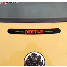 3D Carbon Fiber Vinyl Rear Windshield Brake light decoration sticker Vw Beetle 2012 2013 2014 2015 Auto Accessories - Shenzhen MyHung Company Store store