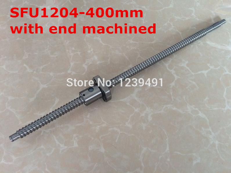 sfu1204  rolled ballscrew End machined   400mm +  ballnut for  cnc parts<br>