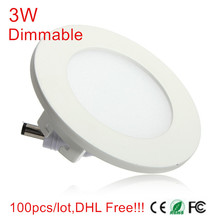 low price!!!Dimmable Led Downlights 3W AC110V- 220V LED Ceiling Downlight 2835 Lamps Led Ceiling Lamp Home Indoor Lighting(China)