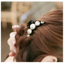 2016 New Long Imitation Pearls Hair Accessories Elegant Ladies Clip Hair Fascinator Plastic Hairpin Chic Barrette for Women 3147