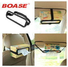 Convenient Tissue box for vehicle sunshade board paper towel rack creative car car styling car covers