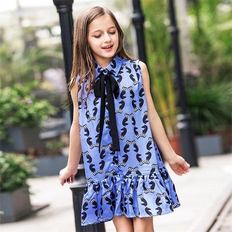 Leisure Baby Girls Dress Summer Sleeveless A-line Girls Chiffon Dress Children Girls Princess Dress Temperament Children Clothes<br><br>Aliexpress
