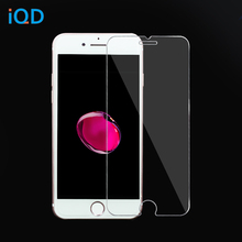 IQD glass film for iPhone X 8 7 6s 6 plus se 5s 5c 5 4s 4 Glass Screen Protector Anti-Fingerprint 9H Hardness Clear Tempered(China)
