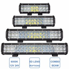 Offroad LED Light Bar 9 12 15 18'' Combo Car Boat Truck AWD Trailer Tractor Wagon 4WD 4X4 Work Light Lamp 90W 120W 150W 180W(China)