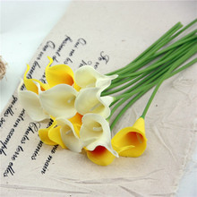1pcs Real Touch Decorative Artificial Flower Calla Lily Artificial Flowers for Wedding Decoration Event Party Supplies DIY