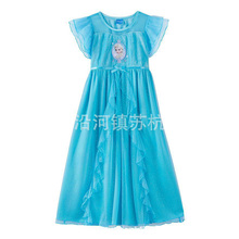 Perfect Quality Princess girls childrens kids dress dress-up summer short sleeve girl dresses fancy costume cosplay