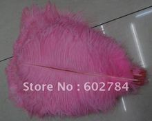 Wholesale 100pcs/lot 14-16 inches 35-40cm PINK ostrich drab feather ostrich plumes Free Shipping